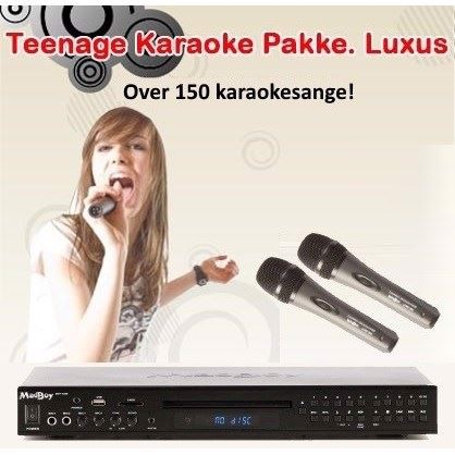 Teenage Karaoke Pakke. Luxus