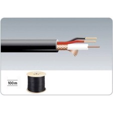Monacor -Video/DC kabel 100m - VSC-103/SW